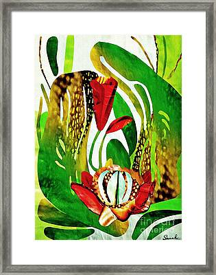 Rain Flowers Framed Print