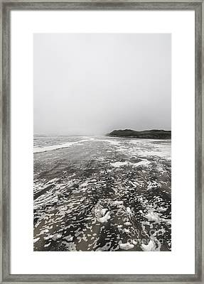 Rain Fog And Wind Seascape Framed Print by Jorgo Photography - Wall Art Gallery