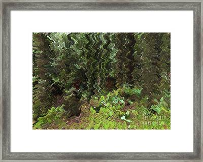 Rain Forest Abstract Framed Print
