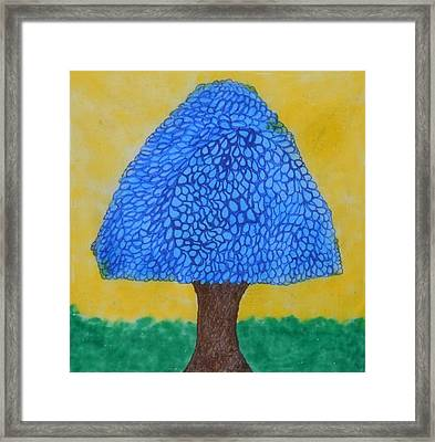 Rain Harmony Tree Framed Print