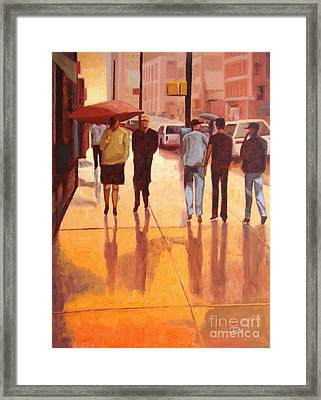 Rain In Manhattan Number Eighteen Framed Print by Tate Hamilton