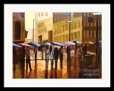 Umbrella Paintings Framed Prints