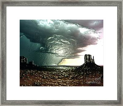 Rain In Monument Valley   Framed Print