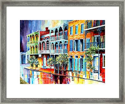 Rain In Old New Orleans Framed Print by Diane Millsap
