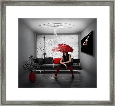 Rain In Paris Framed Print