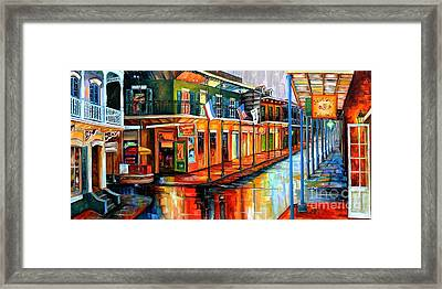Rain In The Big Easy Framed Print by Diane Millsap
