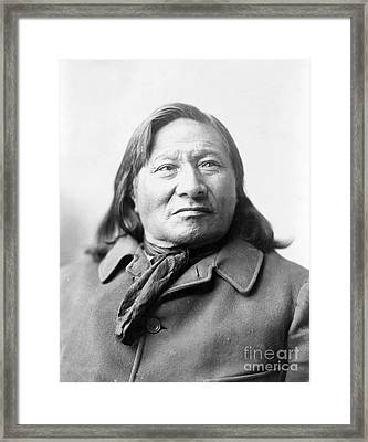 Rain-in-the-face, Lakota Indian War Framed Print by Science Source