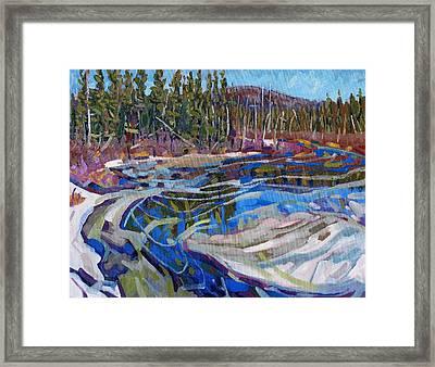 Rain Lake Marsh Framed Print