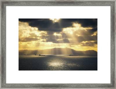 Rain Of Light Framed Print