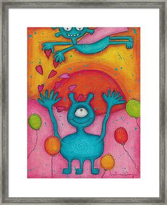 Rain Of Love Framed Print