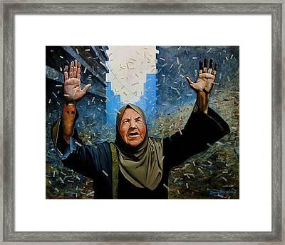 Rain Of Terror Framed Print by Doug Strickland