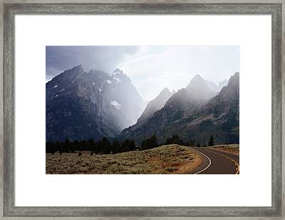 Rain On Grand Teton 2 Framed Print by Marty Koch