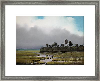 Rain On The Way Framed Print by Glenn Secrest