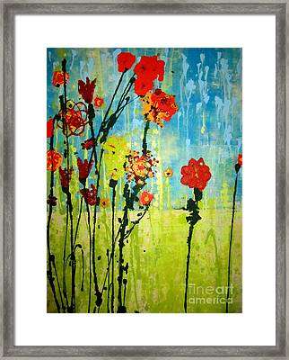 Framed Print featuring the painting Rain Or Shine by Ashley Price