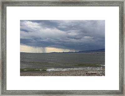Rain Over Canyon Ferry Framed Print by Carolyn Brown