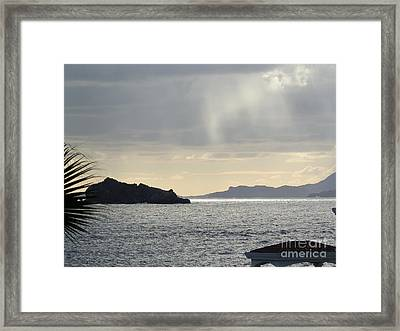 Rain Over Pelican Key Framed Print