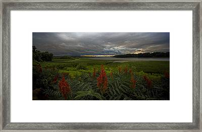 Rain Over The Mohawk Framed Print