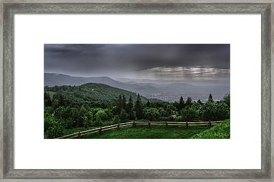Framed Print featuring the photograph Rain Over The Silesian Beskids by Dmytro Korol