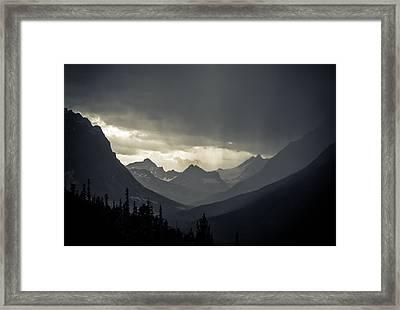 Rain Over The Tonquin Valley Framed Print