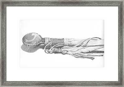 Rain Rattle Sketch Framed Print by Ben Kotyuk