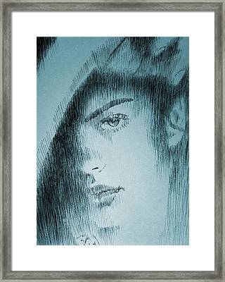 Rain Framed Print by Robbi  Musser