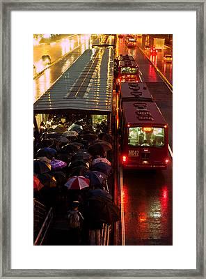 Rain Rush Hour Framed Print by Jess Kraft