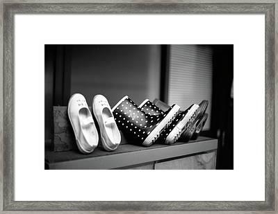 Rain Shoes Framed Print by Snap Shooter jp