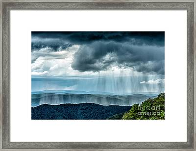 Framed Print featuring the photograph Rain Shower Staunton Parkersburg Turnpike by Thomas R Fletcher