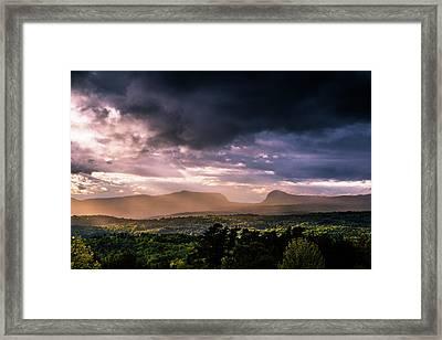 Rain Showers Over Willoughby Gap Framed Print