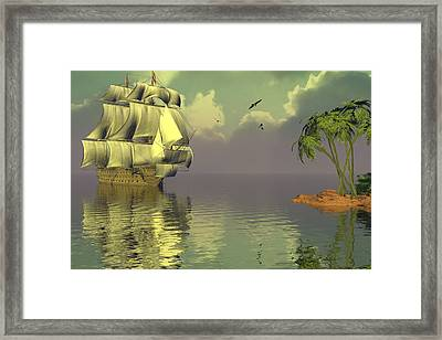 Rain Squall On The Horizon Framed Print by Claude McCoy