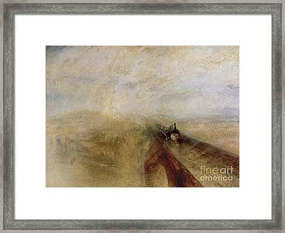 Rain Steam And Speed Framed Print by Joseph Mallord William Turner
