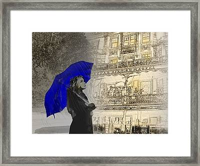 Rain Walk Framed Print by Andre Pillay