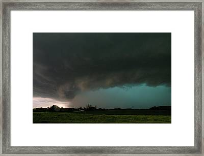 Rain-wrapped Tornado Framed Print