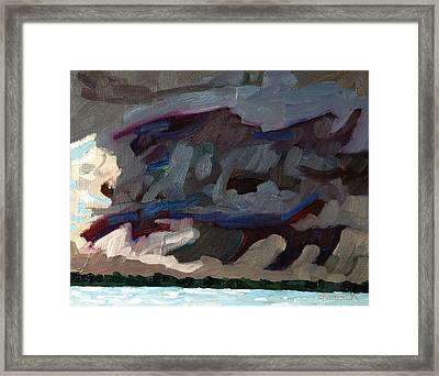 Rain Wrapped Updraft Framed Print by Phil Chadwick