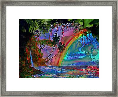 Rainboow Drenched In Layers Framed Print
