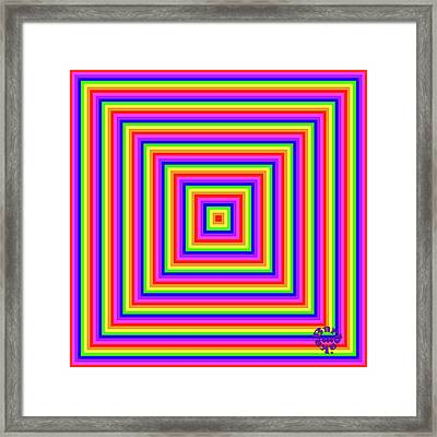 Framed Print featuring the digital art Rainbow #1 by Barbara Tristan