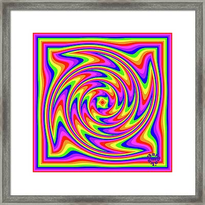 Framed Print featuring the digital art Rainbow #2 by Barbara Tristan