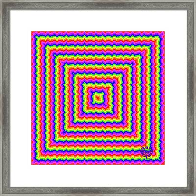 Framed Print featuring the digital art Rainbow #3 by Barbara Tristan