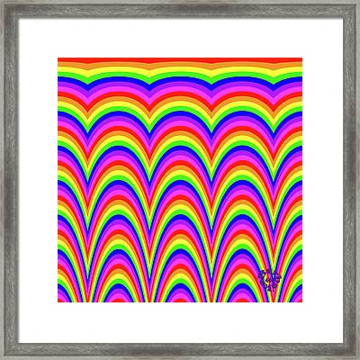 Framed Print featuring the digital art Rainbow #4 by Barbara Tristan