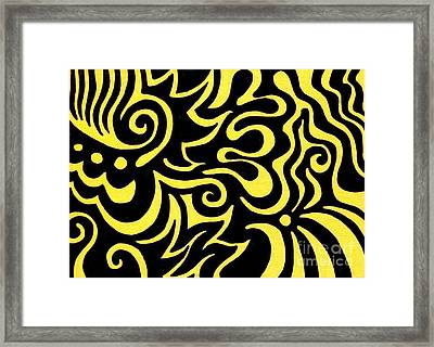 Rainbow Abstract 3 Of 6 Framed Print by Mandy Shupp