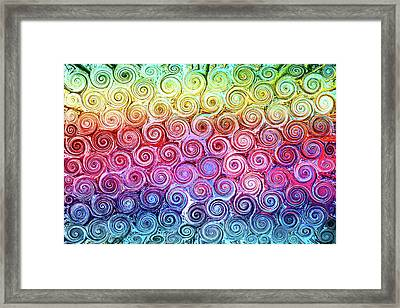 Rainbow Abstract Swirls Framed Print