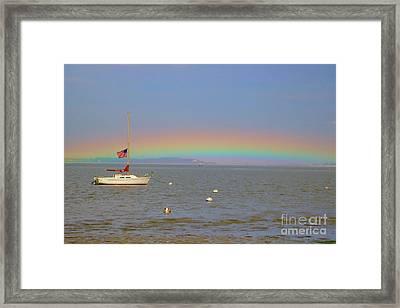 Rainbow Framed Print by Amazing Jules