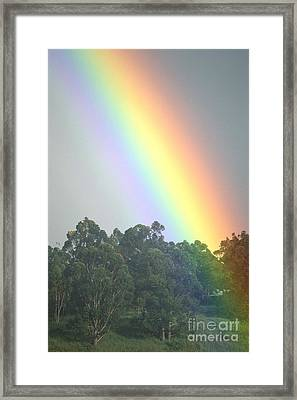 Rainbow And Misty Skies Framed Print by Erik Aeder - Printscapes