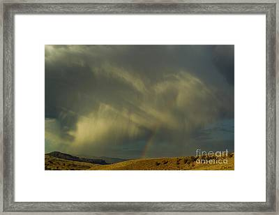 Rainbow And White Light-signed-#9456 Framed Print