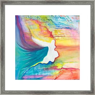 Rainbow Angel Framed Print by Leti C Stiles