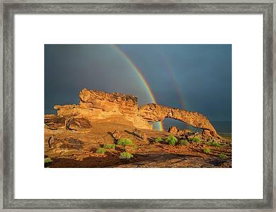 Rainbow Arch Framed Print