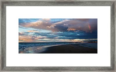 Rainbow At Days End Framed Print by John Buxton