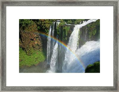 Rainbow At Iguazu Falls Framed Print