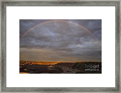 Rainbow At Sunset Framed Print by Melany Sarafis