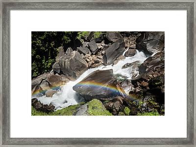 Rainbow At Vernal Falls- Framed Print
